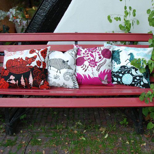 lush designs Kussenhoes Vogelgezang