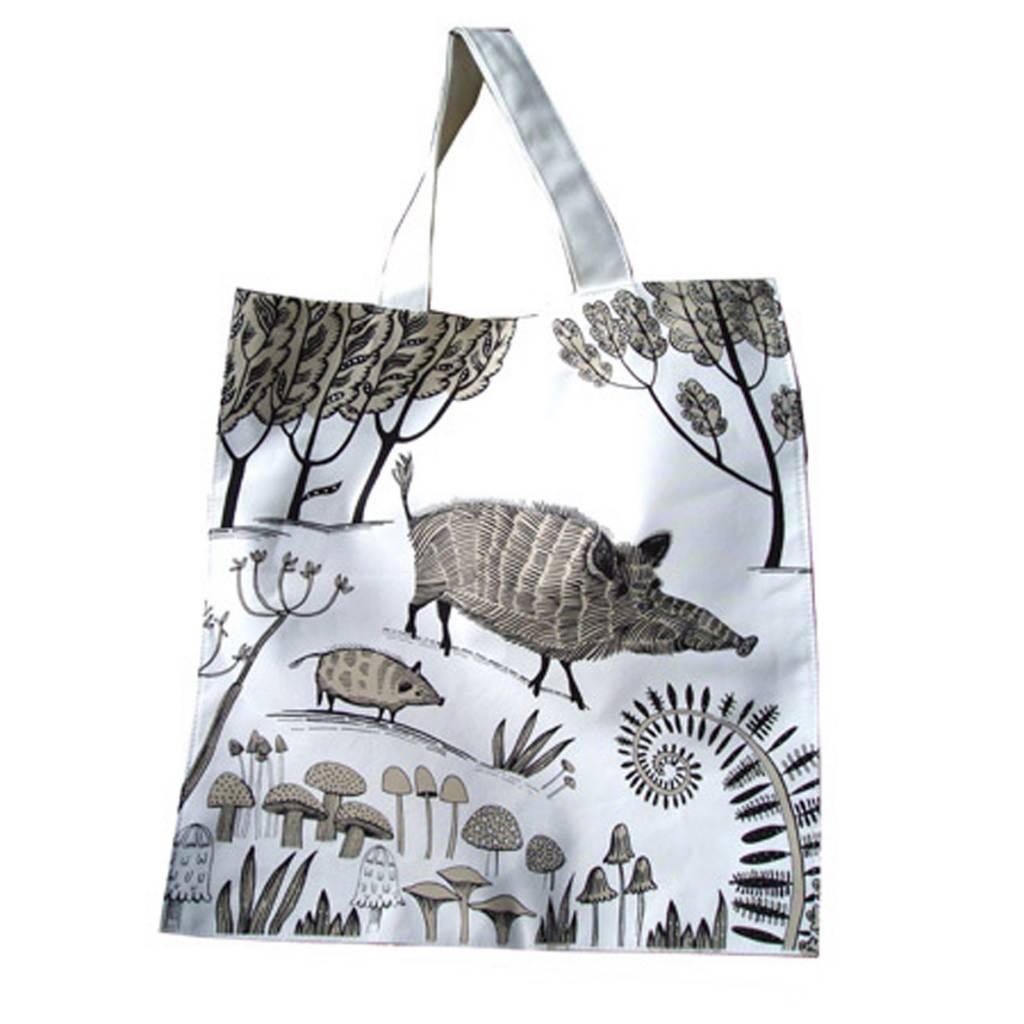 lush designs Canvas tas Wild zwijn
