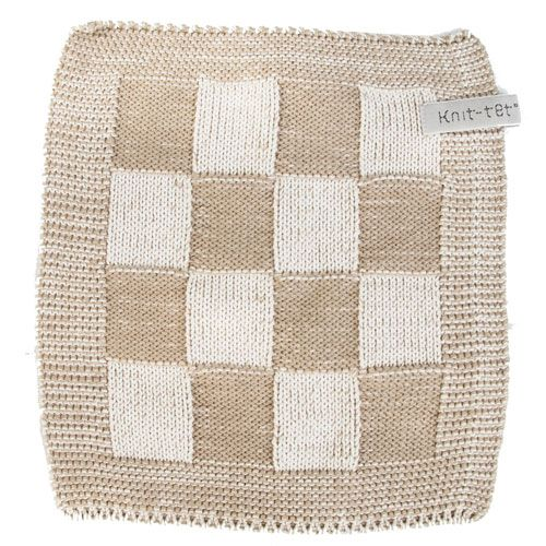 Knit Factory Knitted Pot Holder Blok Antraciet