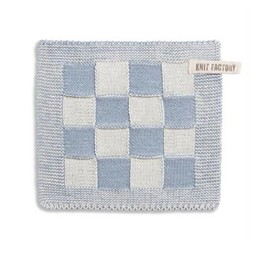 Knit Factory Knitted Pot holder Blok Light grey