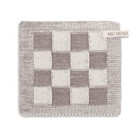 Knitted Pot holder Blok Taupe