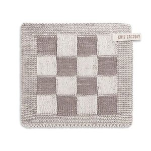 Knit Factory Knitted Pot holder Blok Taupe