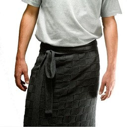 Knit Factory Knitted Half Apron Blok Uni Anthracite