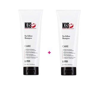 KIS  No Yellow Shampoo 250ml  1+1 Gratis!