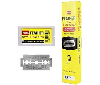 Feather  Double Edge Blades 200 Stuks. Gele Verpakking