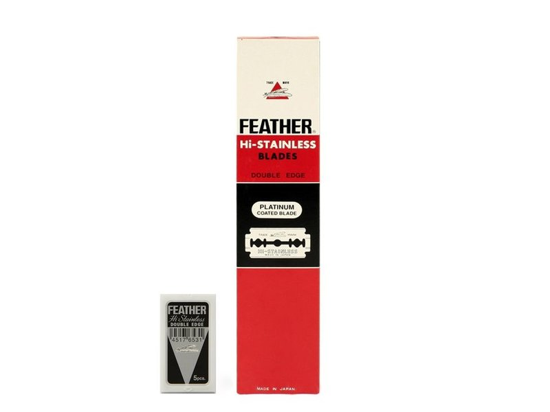Feather  Double Edge Blades 20 x 5 Stuks. Rood