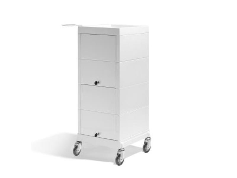 Sibel Kappers werkwagen Discrete creme wit met slot