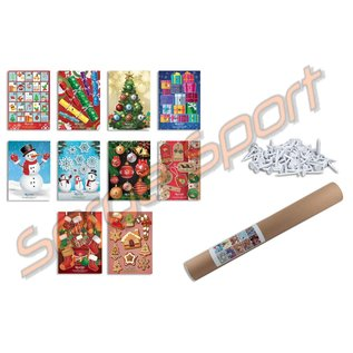 Egertec Complete Set Of 10 Christmas Faces With 50 Target Pins