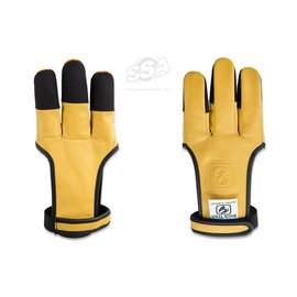 Buck Trail Bucktrail Shooting Gloves Full Palm Leather Sand' With Cordura Fabric Fingertips