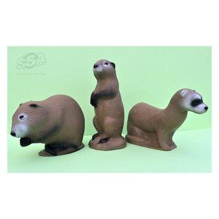 3D International 3D International 3D Target Familypack Mink-Muskusrat-Prairie Dog