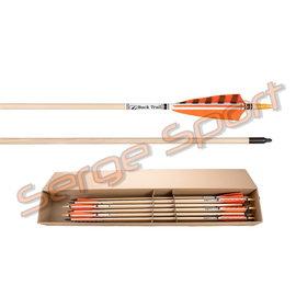 Bucktrail Buck Trail Deluxe Spruce Wood - Wooden Arrows - 12/pk