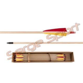 Buck Trail Buck Trail Standard Spruce Wood - Wooden Arrows - 12/pk