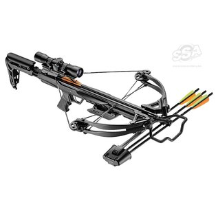 Ek-Poelang EK-POELANG CROSSBOW SETS BLADE+ 340FPS BLACK 175LBS, SCOPE & ACCESSORIES