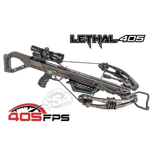 Killer Instinct Lethal 405Fps Pro Package Compound Crossbow With Crank True Timber Strata