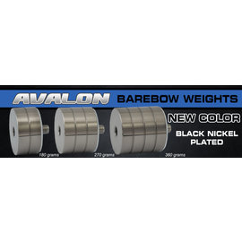 """Avalon AVALON BAREBOW WEIGHT FOR RISERS 5/16"""" BLACK NICKEL PLATED"""