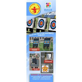Danage DANAGE TARGET STAND DOMINO GRAND PRIX TYPE A 132X132 WITH 4 LEGS