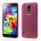 Roze Transparante Samsung Galaxy S5 TPU hoes