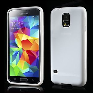 Wit glanzende Samsung Galaxy S5 TPU hoes