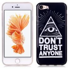 Don't trust Anyone iPhone 7 flexibel hoesje
