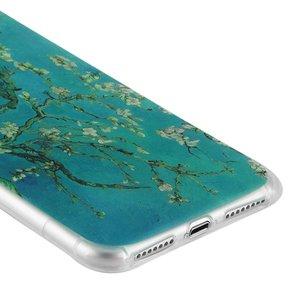 White plum  Iphone 7 plus flexibel hoesje - Copy