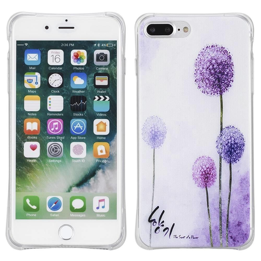 Purple dandelion Iphone 7 plus flexibel hoesje