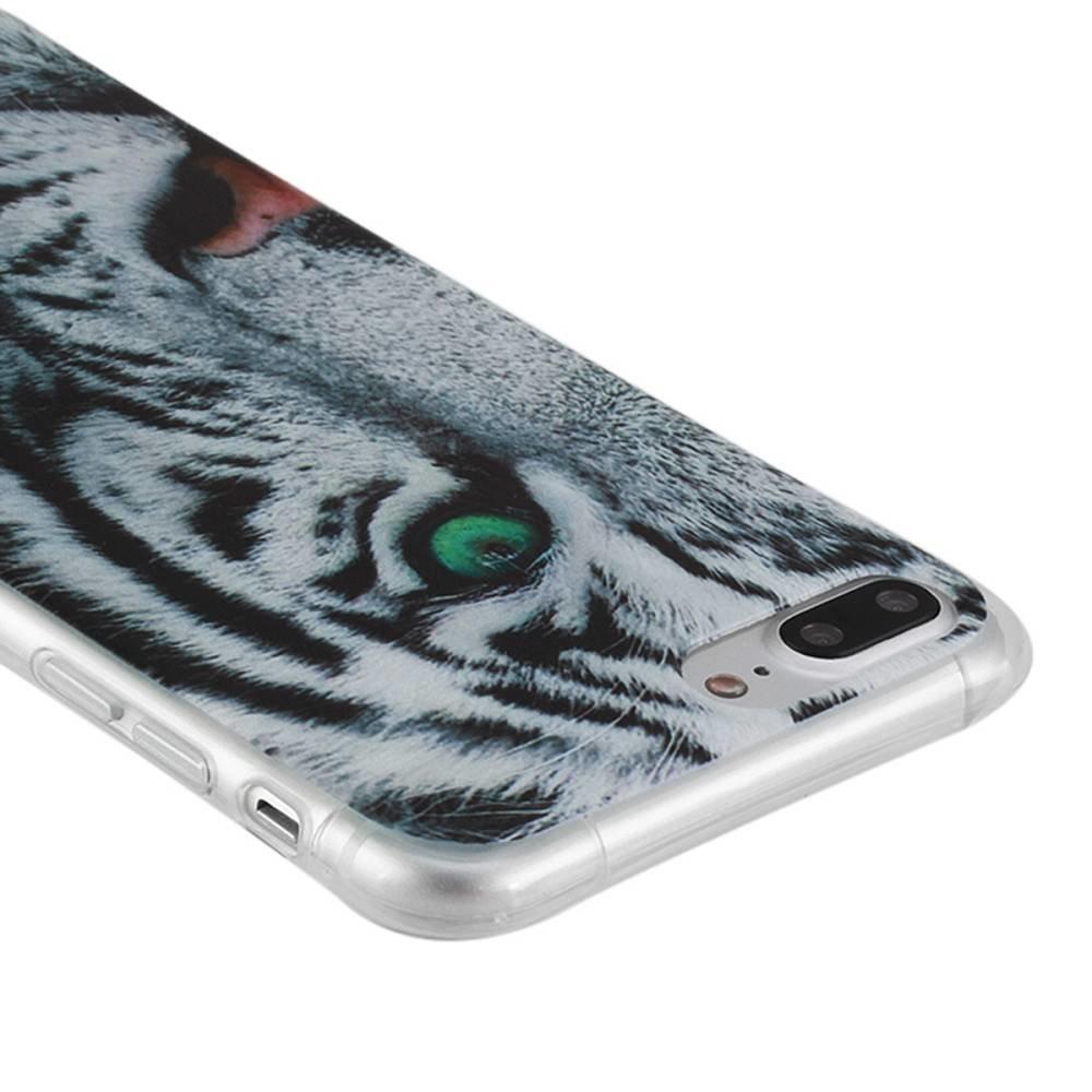 Tijger Iphone 7 plus flexibel hoesje