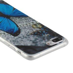 Blauwe vlinder. Iphone 7 plus flexibel hoesje