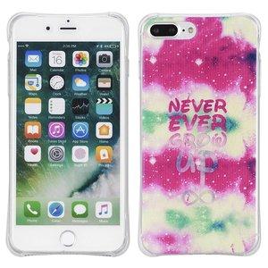 Never ever grow up. Iphone 7 plus flexibel hoesje