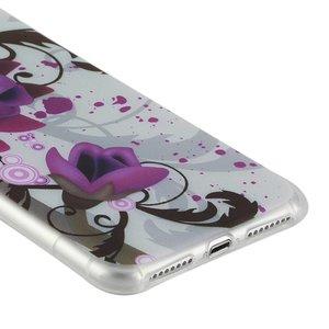 Paarse bloem. Iphone 7 plus flexibel hoesje