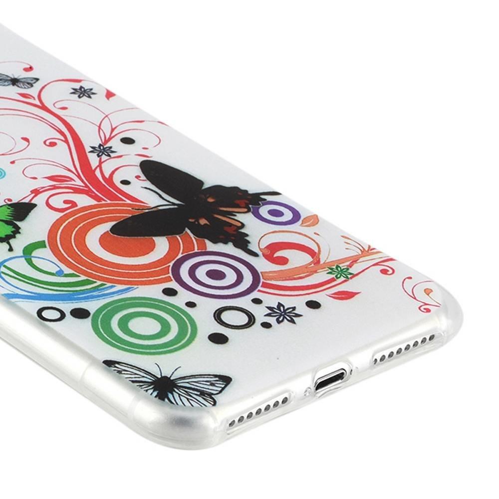 Gekleurde vlinders. Iphone 7 plus flexibel hoesje