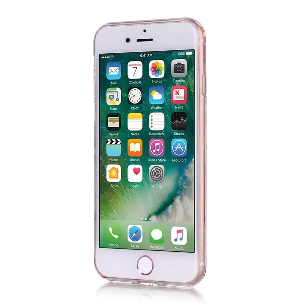 Roze glitter. Iphone 7