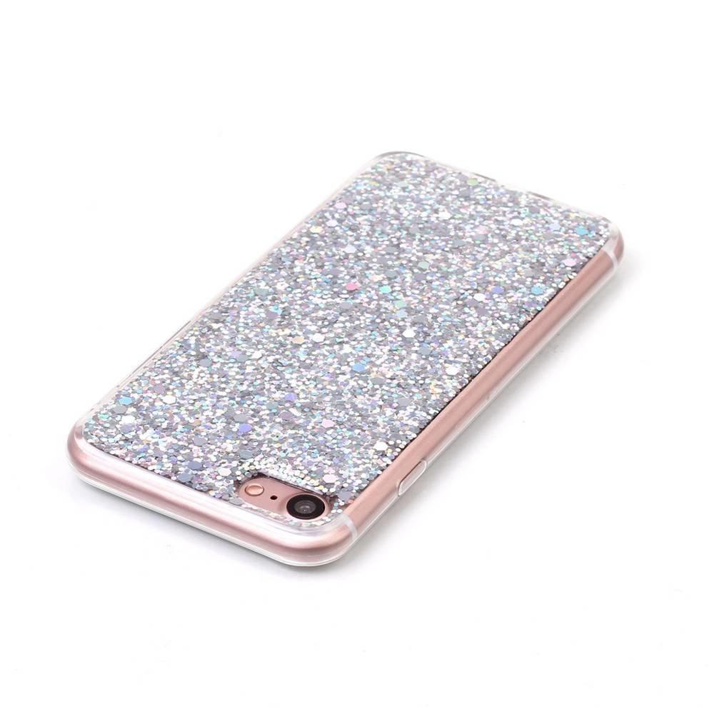 Zilver glitter. Iphone 7