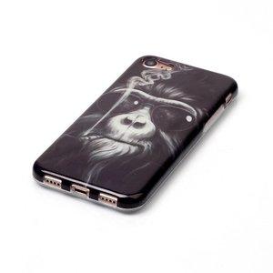 Rokende aap met zonnebril. Iphone 7