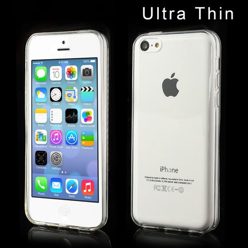 Glossy Transparant TPU iPhone 5C hoesje