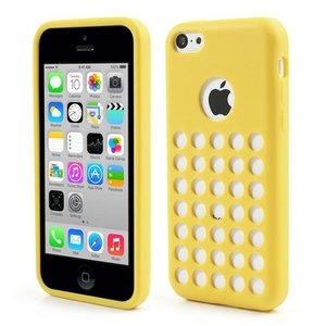 Geel geperforeerd TPU iPhone 5C hoesje