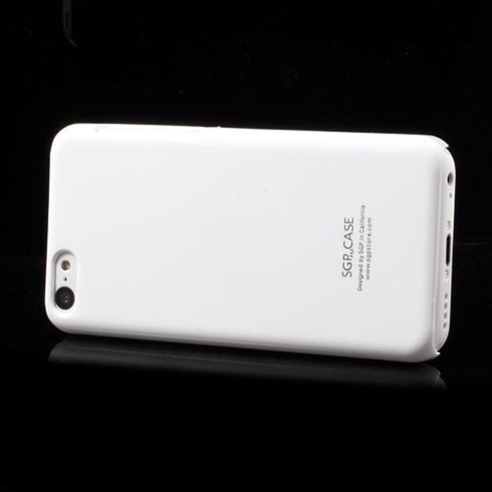 Wit glanzende iPhone 5C hardcase