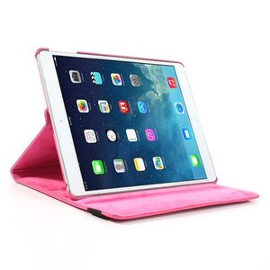 iPad Air hoes 360 roteerbaar PU Leder Roze