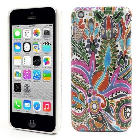 Artistieke bloemen iPhone 5C Hardcase hoesje