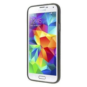 Rood wit blauw geruit flexibel Samsung Galaxy S5 hoesje