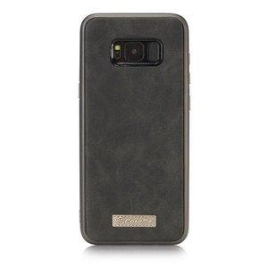 CaseMe Zwart 14 vaks 2 in 1 wallet hoesje Samsung Galaxy S8  echt Split leer
