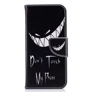 Dont touch my phone Samsung Galaxy S8 portemonnee hoesje