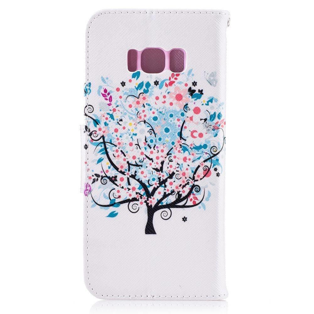 Samsung Galaxy S8 portemonnee hoesje kleurrijke boom