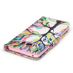 Samsung Galaxy S8 portemonnee hoesje boom met gekleurde blaadjes