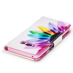 Samsung Galaxy S8 portemonnee hoesje kleurrijke bloem