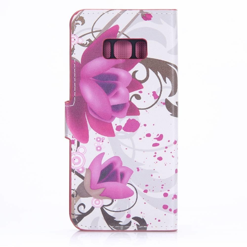 Samsung Galaxy S8 portemonnee hoesje elegante bloem