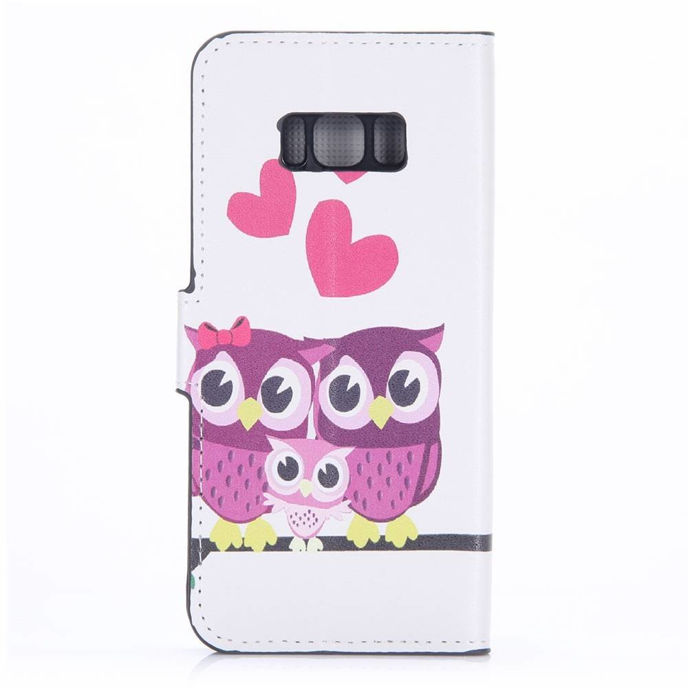 Samsung Galaxy S8 portemonnee hoesje verliefde uiltjes