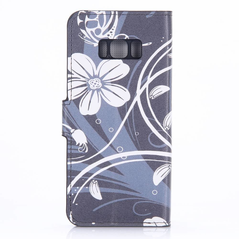 Samsung Galaxy S8 portemonnee hoesje bloem en vormen
