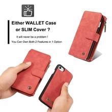 CaseMe Rood 14 vaks 2 in 1 wallet hoesje Samsung S8 PLUS echt Split leer