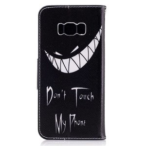 Dont touch my phone Samsung Galaxy S8 PLUS portemonnee hoesje