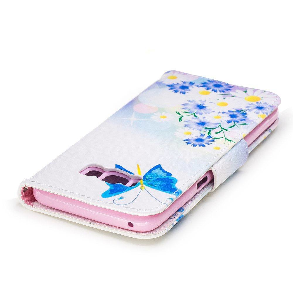 Samsung Galaxy S8 PLUS portemonnee hoesje chrysanten en vlinders